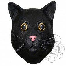 Latex Black Cat Mask